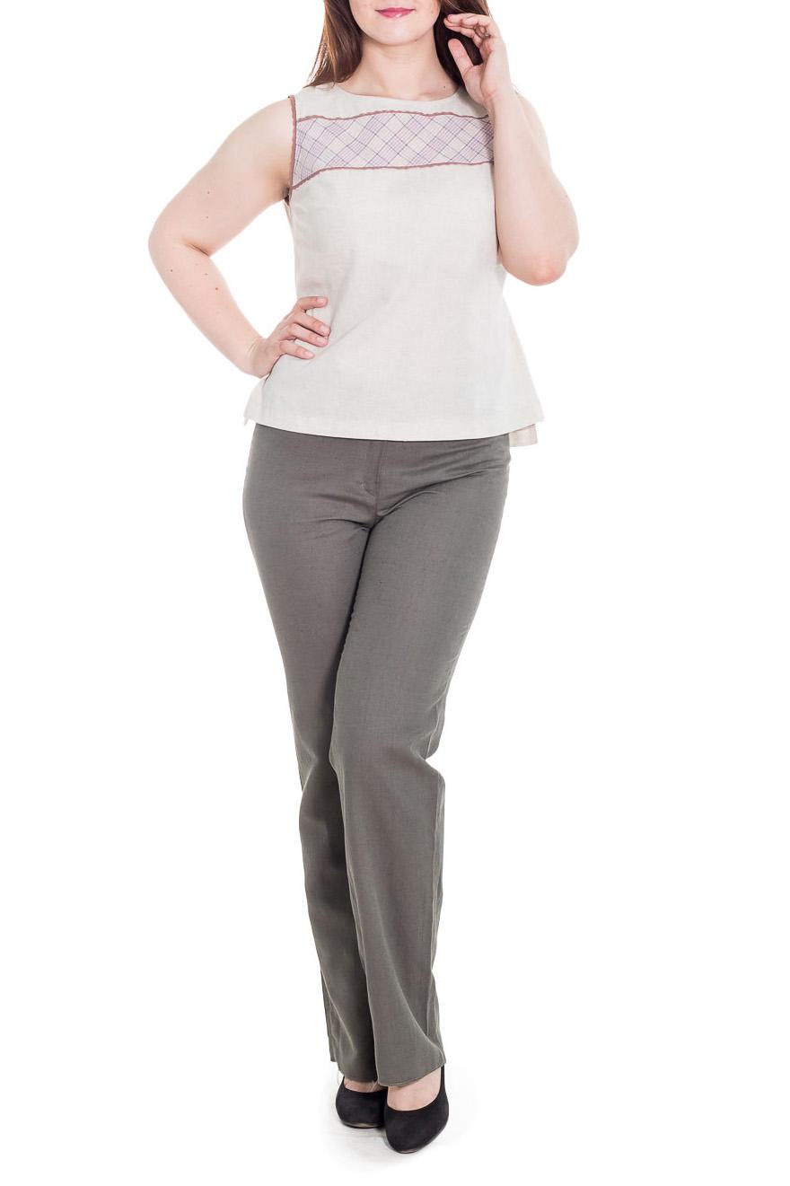 БрюкиБрюки<br>Классические женские брюки, слегка расклешенного кроя, приятного оттенка.  Цвет: зелено-серый.  Рост девушки-фотомодели 180 см<br><br>По длине: Удлиненные<br>По материалу: Лен<br>По образу: Город,Офис,Свидание<br>По рисунку: Однотонные<br>По силуэту: Полуприталенные,Приталенные<br>По стилю: Классический стиль,Офисный стиль,Повседневный стиль<br>По форме: Классические<br>По элементам: С карманами,С молнией<br>По сезону: Лето<br>Размер : 48<br>Материал: Лен<br>Количество в наличии: 1