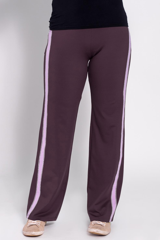 БрюкиБрюки<br>Удобные брюки из плотного трикотажа. Отличный выбор для занятий спортом или активного отдыха  Цвет: фиолетовый, розовый  Рост девушки-фотомодели 180 см<br><br>По материалу: Трикотаж<br>По рисунку: Однотонные<br>По сезону: Весна,Осень<br>По силуэту: Полуприталенные<br>По стилю: Повседневный стиль,Спортивный стиль<br>По элементам: С карманами<br>Размер : 46,48<br>Материал: Трикотаж<br>Количество в наличии: 2