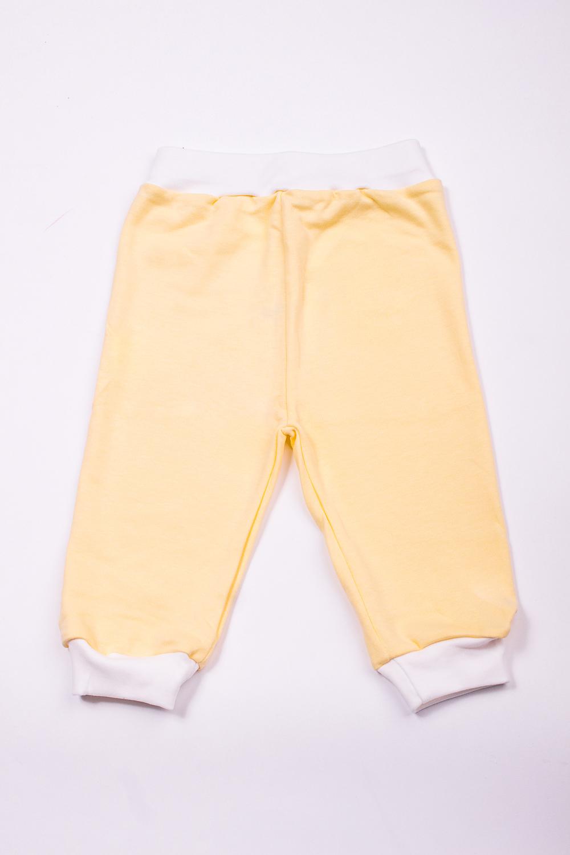 ШтаныПолзунки<br>Трикотажные штаны для ребенка  В изделии использованы цвета: желтый, белый  Размер соответствует росту ребенка.<br><br>Сезон: Всесезон<br>Размер : 62,74,80<br>Материал: Хлопок<br>Количество в наличии: 3