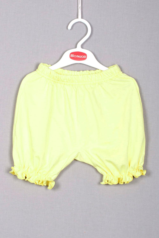 ПанталоныШорты<br>Комфортные кокетливые панталончики прекрасно будут сочетаться с туникой.  Цвет: желтый  Размер соответствует росту ребенка<br><br>По материалу: Трикотажные,Хлопковые<br>По образу: Повседневные,Уличные<br>По рисунку: Однотонные<br>По силуэту: Полуприталенные<br>По стилю: Летние,Повседневные<br>По элементам: На резинке<br>По сезону: Лето<br>По возрасту: Ясельные ( от 1 до 3 лет)<br>Размер : 62,68,74,80<br>Материал: Трикотаж<br>Количество в наличии: 4