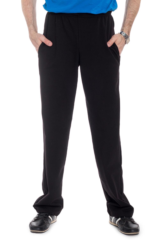 БрюкиБрюки<br>Удобные мужские брюки из эластичного трикотажа. Отличный вариант для занятий спортом или активного отдыха.  В изделии использованы цвета: черный  Рост мужчины-фотомодели 177 см<br><br>По сезону: Осень,Весна<br>Размер : 48,52,54,56,58,60,62<br>Материал: Трикотаж<br>Количество в наличии: 18