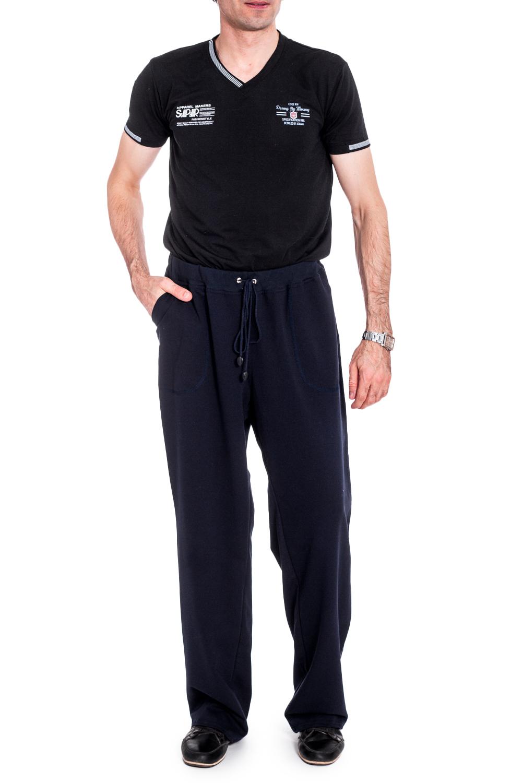 БрюкиБрюки<br>Удобные и практичные мужские брюки. Модель выполнена из эластичного трикотажа. Отличный выбор для занятий спортом или активного отдыха.  Цвет: синий  Рост мужчины-фотомодели 177 см<br><br>По сезону: Осень,Весна<br>Размер : 56<br>Материал: Трикотаж<br>Количество в наличии: 1