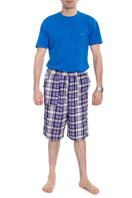 ШортыШорты<br>Удобные мужские шорты из эластичного трикотажа. Отличный вариант для отдыха.  В изделии использованы цвета: фиолетовый, черный, белый  Рост мужчины-фотомодели 177 см<br><br>По сезону: Осень,Весна<br>Размер : 48,50<br>Материал: Трикотаж<br>Количество в наличии: 4
