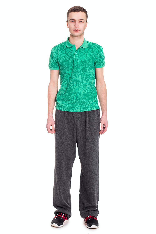 БрюкиСпортивная одежда<br>Удобные мужские брюки. Отличный вариант для активного отдыха.  Цвет: серый  Рост мужчины-фотомодели 182 см  Ростовка изделия 176 см.<br><br>По сезону: Осень,Весна<br>Размер: 56<br>Материал: 93% полиэстер 7% эластан<br>Количество в наличии: 1