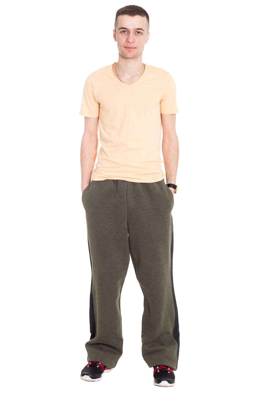 БрюкиСпортивная одежда<br>Удобные мужские брюки. Отличный вариант для активного отдыха.  Цвет: зеленый  Рост мужчины-фотомодели 182 см  Ростовка изделия 182 см.<br><br>По сезону: Осень,Весна<br>Размер: 54<br>Материал: 100% хлопок<br>Количество в наличии: 1