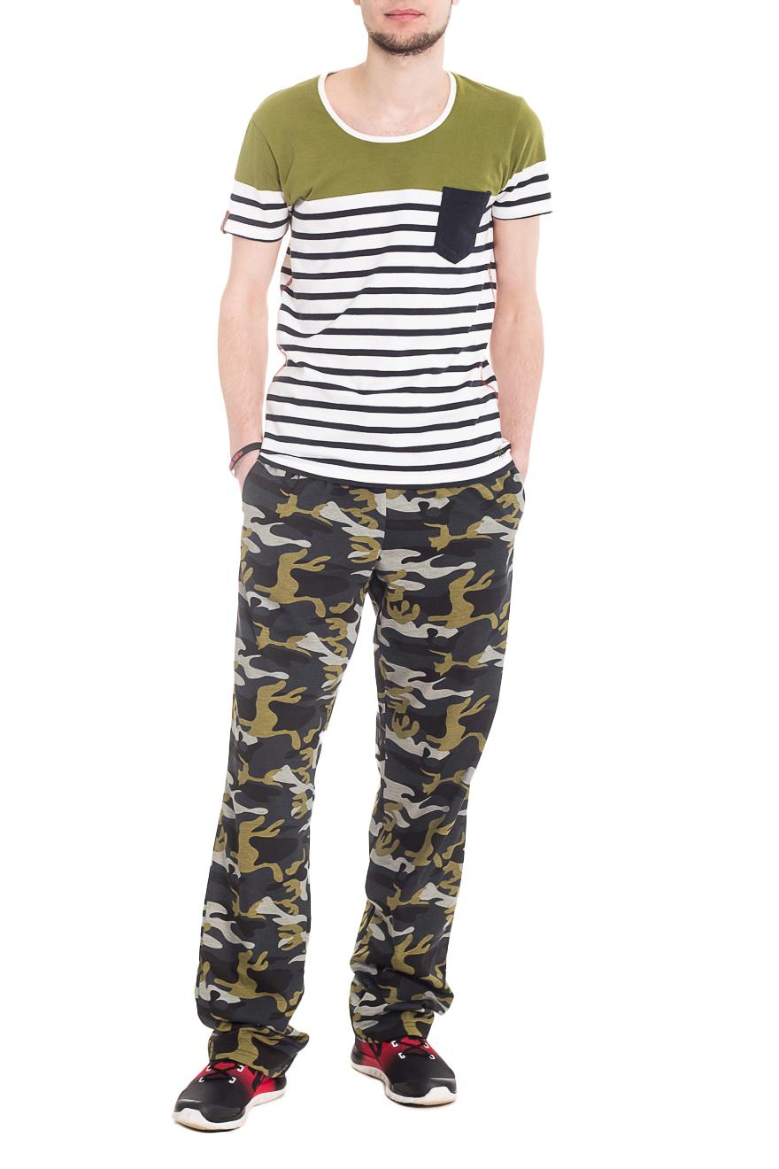 БрюкиСпортивная одежда<br>Мужские хлопковые брюки. Отличный вариант для активного отдыха.  Ростовка изделия 182 см  Цвет: хаки.  Рост мужчины-фотомодели 182 см<br><br>По сезону: Осень,Весна<br>Размер : 46,48,50,56<br>Материал: Хлопок<br>Количество в наличии: 7