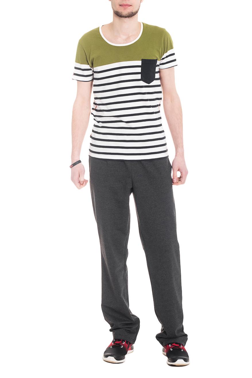 БрюкиСпортивная одежда<br>Мужские хлопковые брюки. Отличный вариант для активного отдыха.  Ростовка изделия 176 см  Цвет: серый.  Рост мужчины-фотомодели 182 см<br><br>По сезону: Осень,Весна<br>Размер : 46,48,50,52,54,56<br>Материал: Трикотаж<br>Количество в наличии: 38