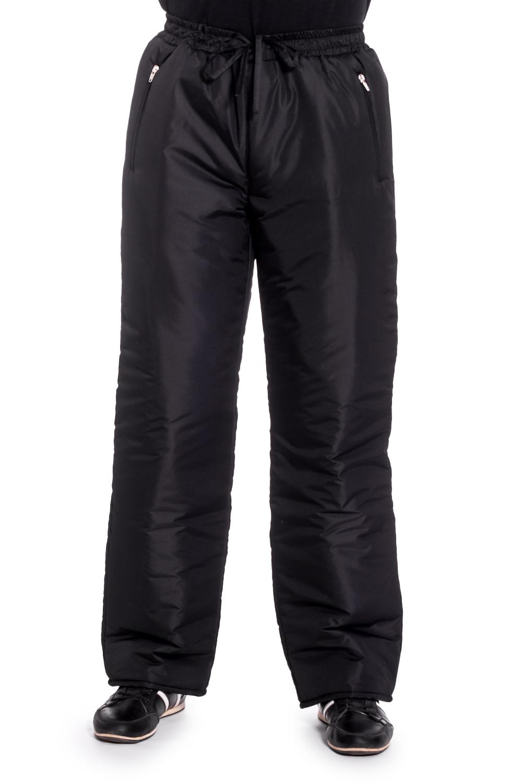 БрюкиБрюки<br>Мужские утепленные брюки. Модель выполнена из плотной болоньи.   Цвет: черный  Рост мужчины-фотомодели 177 см<br><br>По сезону: Зима<br>Размер : 54,56<br>Материал: Болонья<br>Количество в наличии: 2