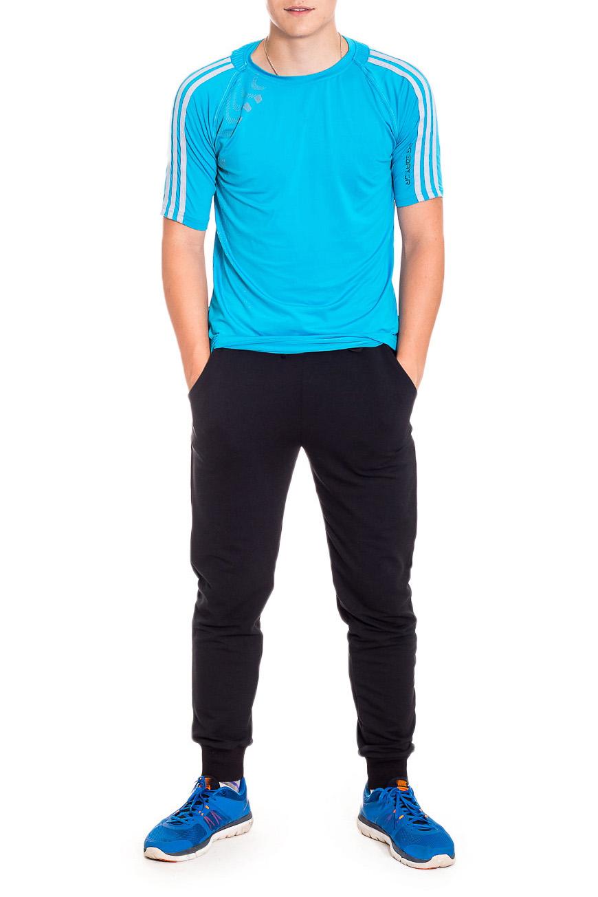 БрюкиБрюки<br>Мужские трикотажные брюки. Отличный вариант для активного отдыха и для домашнего использования.  Рост мужчины-фотомодели 178 см.  Цвет: черный.<br><br>По сезону: Всесезон<br>Размер : 44,46,48,50,52<br>Материал: Трикотаж<br>Количество в наличии: 26