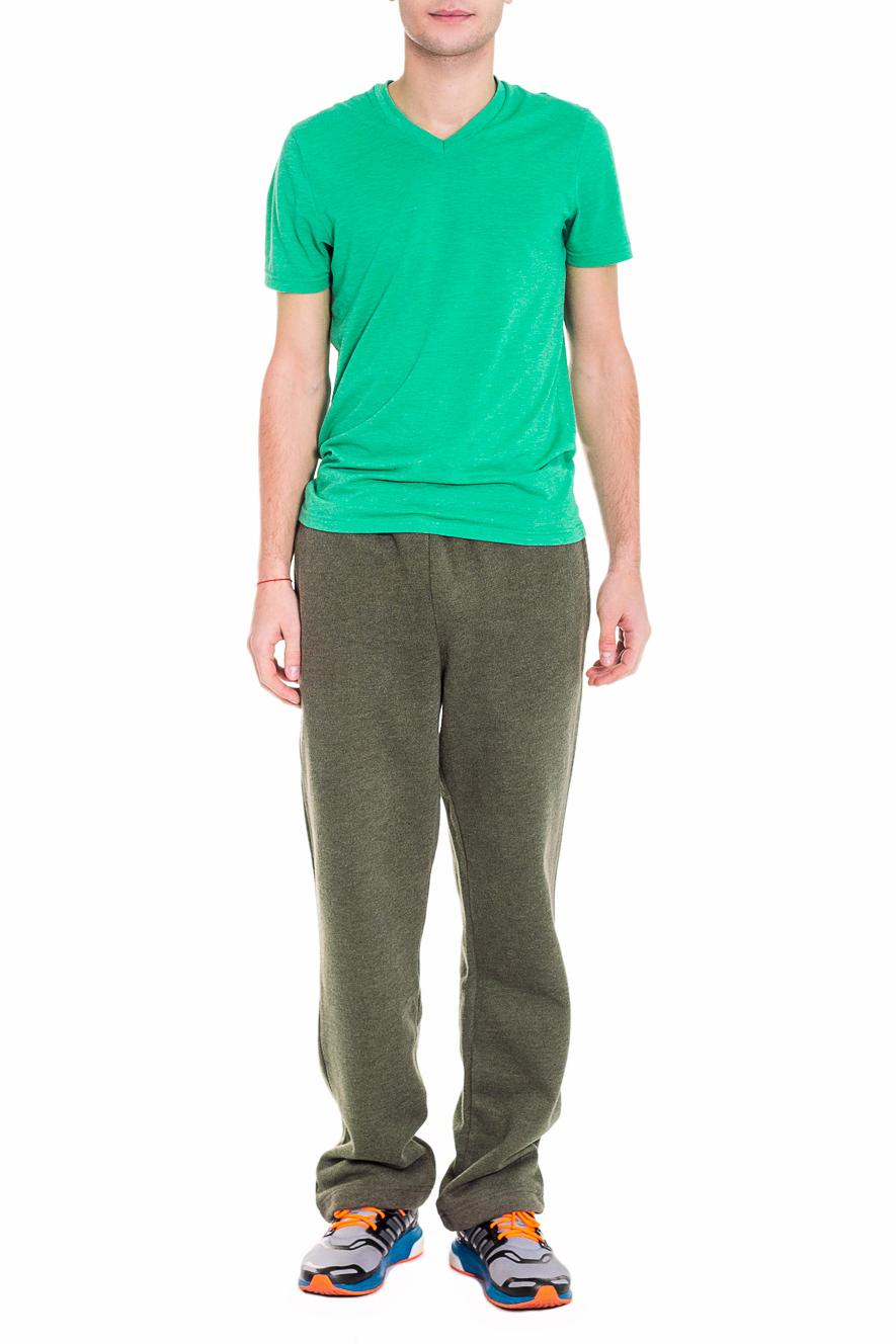 БрюкиСпортивная одежда<br>Мужские брюки из мягкого и теплого футера. Отличный вариант для активного отдыха.  Цвет: хаки  Рост мужчины-фотомодели 182 см<br><br>По сезону: Осень,Весна<br>Размер : 48,50,52<br>Материал: Трикотаж<br>Количество в наличии: 3