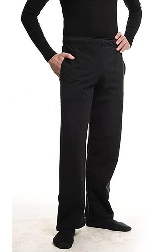 БрюкиБрюки<br>Удобные мужские брюки из плотного трикотажа. Отличный выбор для занятий спортом или активного отдыха.  Цвет: черный  Ростовка изделия 182-188 см.<br><br>По сезону: Осень,Весна<br>Размер : 42-44<br>Материал: Трикотаж<br>Количество в наличии: 2