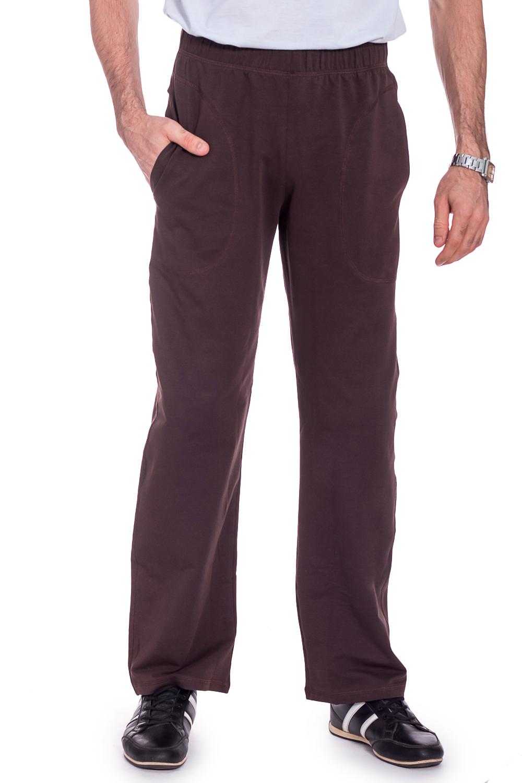 БрюкиБрюки<br>Мужские трикотажные брюки. Отличный выбор для занятий спортом или активного отдыха.  Ростовка изделия 182 см.  Цвет: коричневый  Рост мужчины-фотомодели 177 см<br><br>По сезону: Осень,Весна<br>Размер : 42-44<br>Материал: Трикотаж<br>Количество в наличии: 1