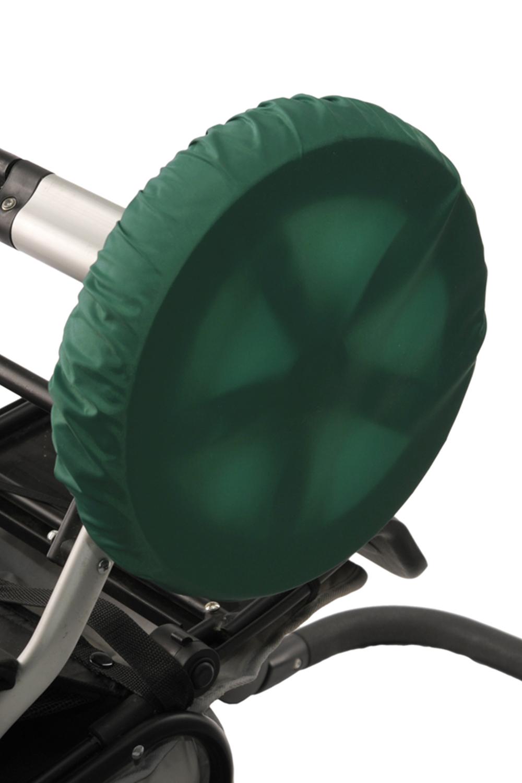 ЧехлыАксессуары<br>Простое решение для защиты от грязи и слякоти в осенне-зимнее время года.  То, что с малышом нужно чаще гулять, знают все. Но как же неохота после этого каждый раз мыть колёса у коляски. А и не нужно Представляем необычайно удобную вещь – специальные чехлы на колёса коляски.  Это прекрасная защита от грязи и слякоти. Незаменимы при ситуации, когда малыш заснул во время прогулки – ведь будить его не хочется. Просто наденьте чехлы на колёса и закатите коляску домой. Чистый пол и хорошее настроение проснувшегося малыша вам обеспечены. Ткань, из которой сделаны чехлы, легко стирается. Размеры чехлов универсальны и рассчитаны практически на любой тип коляски.  Удобно и просто. • защита от грязи и слякоти • не нужно после каждого выхода на улицу мыть колеса коляски • если малыш заснул на прогулке, а нужно уже возвращаться – просто оденьте на колеса чехлы и закатите коляску домой • удобная конструкция предотвратит высыпание засохшей грязи  В наборе 4 шт., d=28-38 см  Цвет: зеленый<br><br>По сезону: Всесезон<br>Размер : UNI<br>Материал: Болонья<br>Количество в наличии: 1