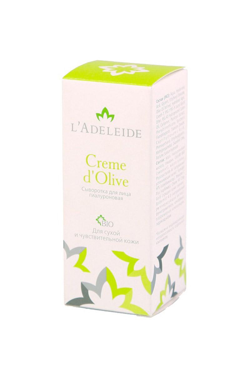 Сыворотка для лица гиалуроновая Creme dOliveСыворотки для лица<br>Сыворотка для лица гиалуроновая Creme dOlive, 15 мл.  Сыворотка L'Adeleide Creme d'Olive это сочетание новейших компонентов для сухой и чувствительной кожи в максимальной концентрации. Экспресс-уход для восстановления кожи. В составе растительные стволовые клетки и микрочастицы, которые повышают эластичность, способствуют разглаживанию морщин, тон кожи выравнивается. Кожа приобретает сияние молодости. Средство не предназначено для использования каждый день, из-за очень сильного эффекта. Его лучше всего использовать как скорую помощь при раздражении и сухости кожи.   В основе невероятной эффективности крема: Phycosaccharide Al – мгновенно () снимает раздражение Epidermist 4.0- «Создатель новой кожи». Активно стимулирует создание обновленных клеток эпидермиса, активизирует естественную защиту кожи, подавляет рост Pro-acne бактерий. Гиалуроновая кислота – (высоко- и низкомолекулярная, растительного происхождения) – один из лучших увлажняющих компонентов. Масло Оливы - традиционный оживляющий компонент. Гипоаллергенно.  Способ  применения: Несколько капель нанести на чистую кожу легкими массирующими движениями.  Состав: вода, гиалуроновая кислота, глицерин, Cetiol® 868 (эмолент), масло оливы, Phycosaccharide Al (натуральный успокаивающий актив), Eumulgin HPS (солюбилизатор), Rheocare C Plus (карбомер), Chione HD Crisp Gold(придает коже сияние), Epidermist 4.0 (натуральный регенерирующий актив), фенилтриметикон, консервант, парфюмерная композиция, гидроксид натрия.  Объем: 15 мл.<br><br>Тип аромата: Легкий<br>Тип кожи: Сухая кожа,Чувствительная кожа<br>Тип проблемы: Высыпания и прыщи,Покраснения<br>Эффект: Очищение,Увлажнение<br>Размер : UNI<br>Количество в наличии: 3