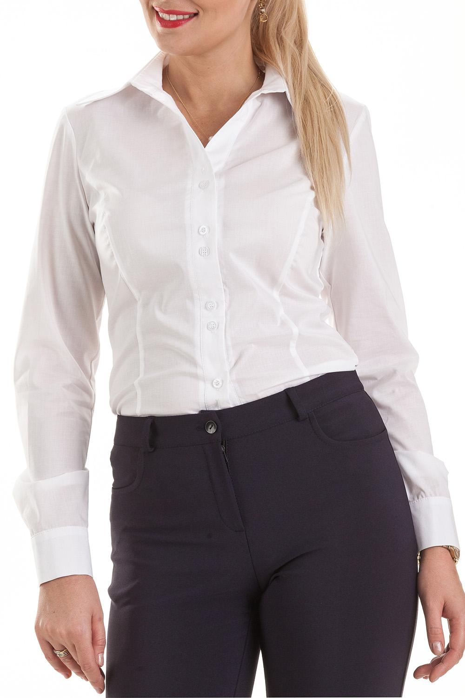 РубашкаРубашки<br>Классическая рубашка с длинным рукавом, выполнена из тончайшего индийского батиста (100% хлопок). Благодаря уникальным свойствам хлопка и отсутствию синтетических примесей в ткани изделия, рубашка обладает отличной гигроскопичностью и дышащими свойствами. Не прилипает к телу и создает оптимальный микроклимат в течение всего дня. V – образный вырез воротника зрительно удлиняет рост.  Цвет: белый  Ростовка изделия 170 см.<br><br>Воротник: Рубашечный<br>Застежка: С пуговицами<br>По материалу: Блузочная ткань,Хлопок<br>По рисунку: Однотонные<br>По сезону: Весна,Зима,Лето,Осень,Всесезон<br>По силуэту: Приталенные<br>По стилю: Классический стиль,Офисный стиль,Повседневный стиль<br>По элементам: С манжетами<br>Рукав: Длинный рукав<br>Горловина: V- горловина<br>Размер : 50,60<br>Материал: Блузочная ткань<br>Количество в наличии: 2