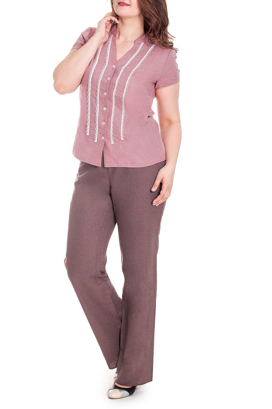 БлузкаБлузки<br>Элегантная и женственная блузка, которая подойдет любому типу фигуры, выполненная из приятной телу льняной ткани. Воротник стойка и V-образный вырез горловины. Застежка на пуговицы.  Цвет: розовый.  Рост девушки-фотомодели 180 см<br><br>Горловина: V- горловина<br>Застежка: С пуговицами<br>По материалу: Лен<br>По образу: Город,Свидание<br>По рисунку: Однотонные<br>По сезону: Весна,Зима,Лето,Осень,Всесезон<br>По силуэту: Полуприталенные<br>По стилю: Летний стиль,Повседневный стиль,Романтический стиль<br>По элементам: С декором<br>Рукав: Короткий рукав<br>Размер : 44,46,48<br>Материал: Лен<br>Количество в наличии: 7