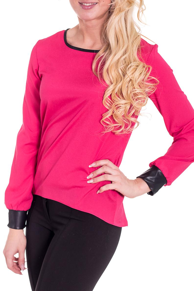 БлузкаБлузки<br>Замечательная блузка с длинными рукавами. Модель выполнена из приятного материала. Отличный выбор для любого случая.  Цвет: розовый, черный  Рост девушки-фотомодели 170 см<br><br>Горловина: С- горловина<br>По материалу: Блузочная ткань,Тканевые<br>По сезону: Весна,Всесезон,Зима,Лето,Осень<br>По силуэту: Свободные<br>По стилю: Повседневный стиль<br>Рукав: Длинный рукав<br>По рисунку: Цветные<br>По элементам: С манжетами<br>Размер : 44-46,48-50<br>Материал: Блузочная ткань<br>Количество в наличии: 3