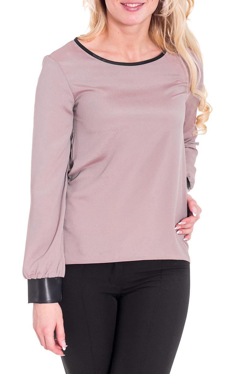 БлузкаБлузки<br>Замечательная блузка с длинными рукавами. Модель выполнена из приятного материала. Отличный выбор для любого случая.  Цвет: бежевый, черный  Рост девушки-фотомодели 170 см<br><br>Горловина: С- горловина<br>По материалу: Блузочная ткань,Тканевые<br>По рисунку: Однотонные<br>По сезону: Весна,Всесезон,Зима,Лето,Осень<br>По силуэту: Свободные<br>По стилю: Повседневный стиль<br>Рукав: Длинный рукав<br>По элементам: С манжетами<br>Размер : 40-42,44-46<br>Материал: Блузочная ткань<br>Количество в наличии: 2