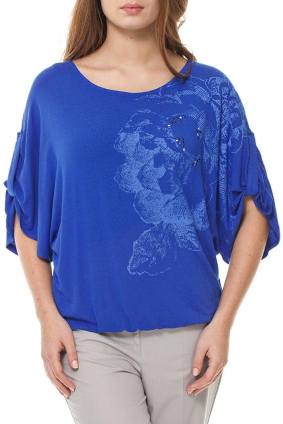 БлузкаБлузки<br>Свободная блузка свободного силуэта с рукавами летучая мышь. Модель выполнена из мягкой вискозы. Отличный выбор для любого случая.  Цвет: синий, голубой  Ростовка изделия 170 см.<br><br>Горловина: С- горловина<br>По материалу: Вискоза,Трикотаж<br>По рисунку: Однотонные,С принтом<br>По сезону: Весна,Зима,Лето,Осень,Всесезон<br>По силуэту: Свободные<br>По стилю: Повседневный стиль<br>По элементам: С патами<br>Рукав: До локтя<br>Размер : 44-46<br>Материал: Вискоза<br>Количество в наличии: 1