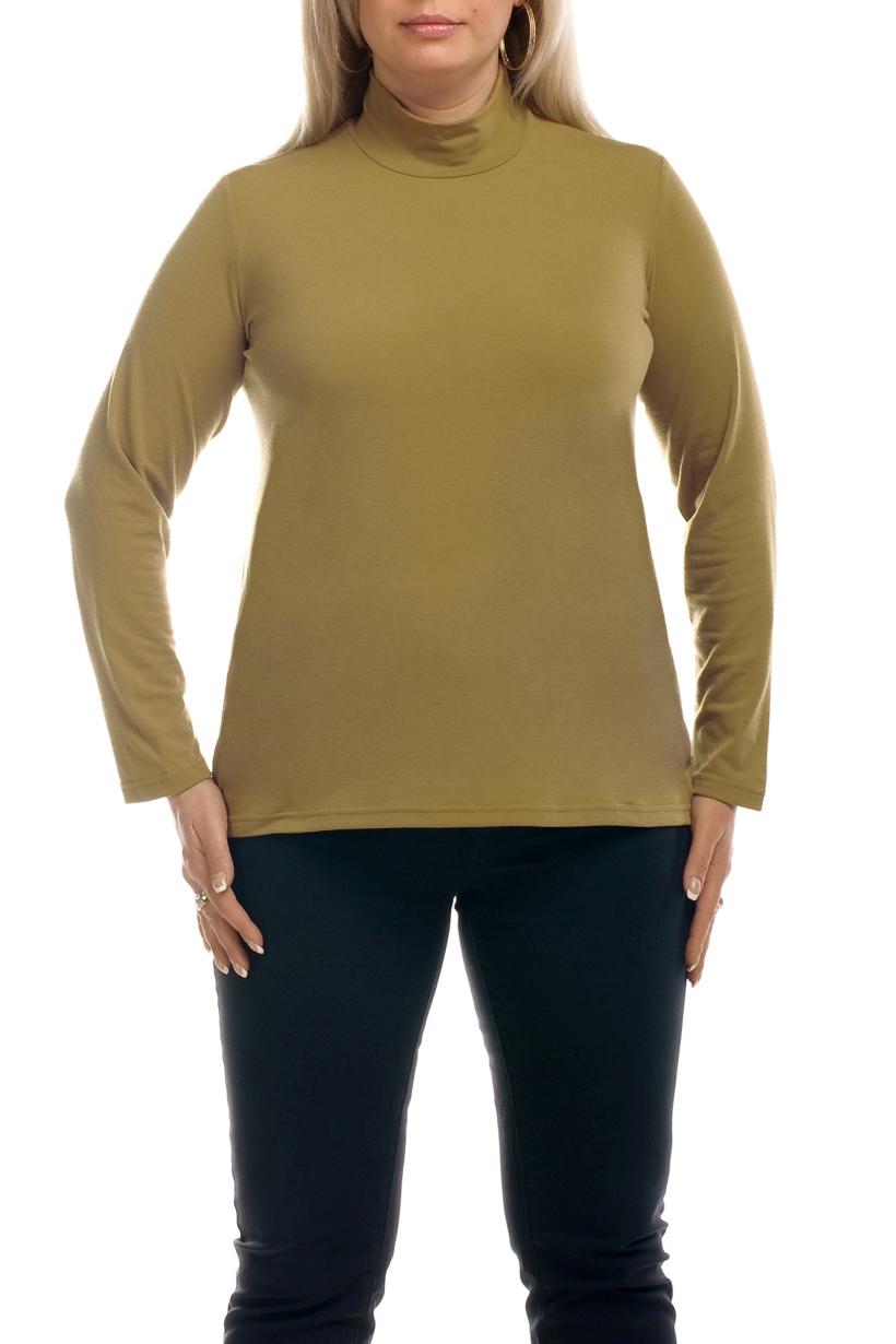 ВодолазкаВодолазки<br>Однотонная женская водолазка с длинными рукавами. Модель выполнена из приятного трикотажа. Отличный выбор для повседневного гардероба.  Цвет: бежевый  Рост девушки-фотомодели 173 см<br><br>Воротник: Стойка<br>По материалу: Вискоза,Трикотаж<br>По образу: Город,Офис,Свидание<br>По рисунку: Однотонные<br>По сезону: Всесезон,Зима,Лето,Осень,Весна<br>По силуэту: Полуприталенные<br>По стилю: Офисный стиль,Повседневный стиль<br>Рукав: Длинный рукав<br>Размер : 52-54,56-58,60-62<br>Материал: Трикотаж<br>Количество в наличии: 3
