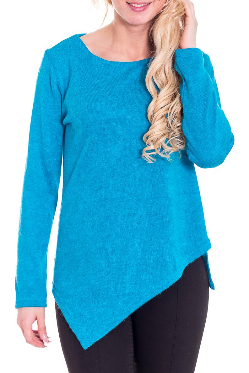 ДжемперДжемперы<br>Уютный джемпер с длинными рукавами и асимметричным низом. Модель выполнена из приятного трикотажа с добавлением ангоры. Отличный выбор для повседневного гардероба.  Цвет: голубой  Рост девушки-фотомодели 170 см<br><br>Горловина: С- горловина<br>По материалу: Трикотаж,Шерсть<br>По образу: Город,Офис,Свидание<br>По рисунку: Однотонные<br>По силуэту: Полуприталенные<br>По стилю: Офисный стиль,Повседневный стиль<br>По элементам: С фигурным низом<br>Рукав: Длинный рукав<br>По сезону: Зима<br>Размер : 44-46,48-50<br>Материал: Трикотаж<br>Количество в наличии: 3