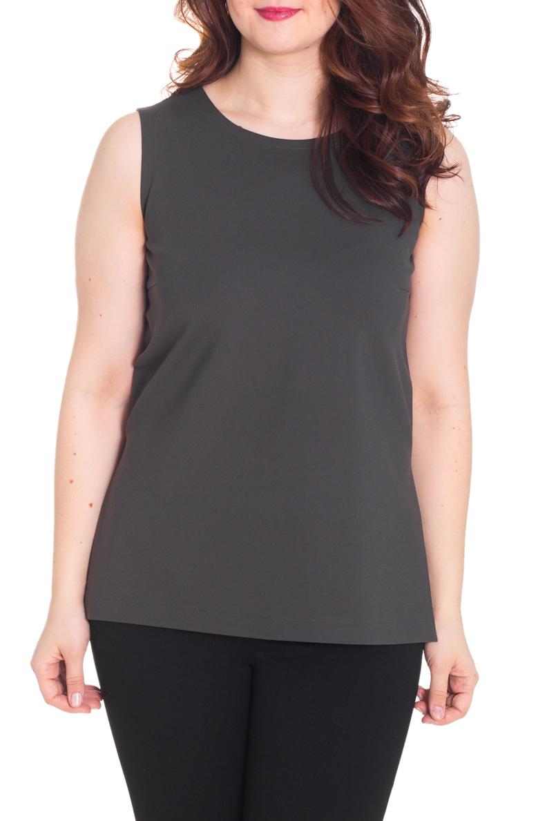 БлузкаБлузки<br>Однотонная блузка без рукавов с круглой горловиной. Модель выполнена из однотонного трикотажа. Отличный выбор для базового гардероба.  Цвет: серый  Рост девушки-фотомодели 180 см.<br><br>Горловина: С- горловина<br>По материалу: Вискоза,Трикотаж<br>По рисунку: Однотонные<br>По сезону: Весна,Зима,Лето,Осень,Всесезон<br>По силуэту: Полуприталенные<br>По стилю: Офисный стиль,Повседневный стиль,Летний стиль<br>Рукав: Без рукавов<br>Размер : 52<br>Материал: Трикотаж<br>Количество в наличии: 1