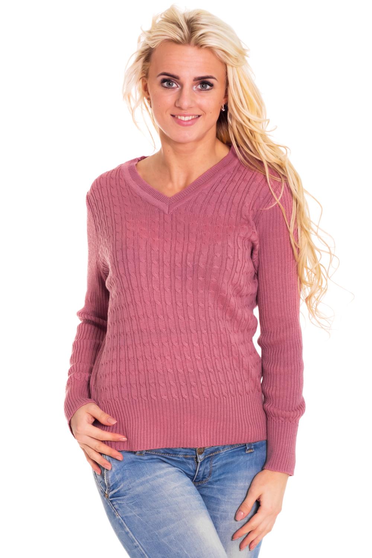 ПуловерДжемперы<br>Теплый пуловер с длинными рукавами из вязанного трикотажа. Вязаный трикотаж - это красота, тепло и комфорт. В вязаных вещах очень легко оставаться женственной и в то же время не замёрзнуть.  Цвет: приглушенная орхидея  Рост девушки-фотомодели 170 см<br><br>Горловина: V- горловина<br>По материалу: Вязаные,Трикотаж<br>По образу: Город,Свидание<br>По рисунку: Однотонные<br>По силуэту: Полуприталенные<br>По стилю: Повседневный стиль<br>Рукав: Длинный рукав<br>По сезону: Зима<br>Размер : 44,46,48,50,54<br>Материал: Вязаное полотно<br>Количество в наличии: 5