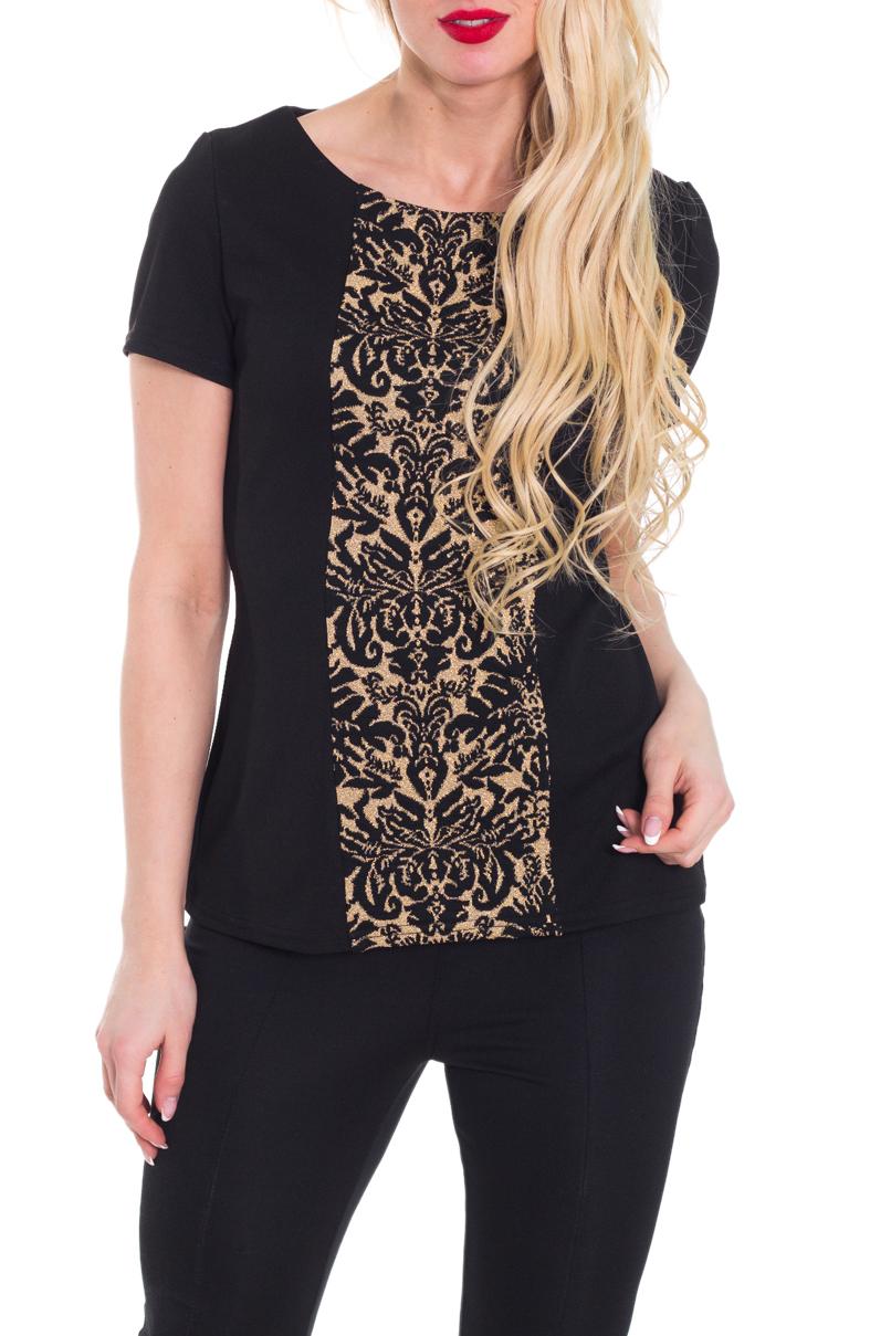 БлузкаБлузки<br>Красивая блузка с круглой горловиной и короткими рукавами. Модель выполнена из приятного трикотажа с ажурным принтом. Отличный выбор для любого случая.  Цвет: черный, бежевый  Рост девушки-фотомодели 170 см.<br><br>Горловина: С- горловина<br>По материалу: Трикотаж<br>По рисунку: Цветные,С принтом<br>По сезону: Весна,Всесезон,Зима,Лето,Осень<br>По силуэту: Полуприталенные<br>По стилю: Повседневный стиль,Летний стиль<br>Рукав: Короткий рукав<br>Размер : 44-46,52-54<br>Материал: Трикотаж<br>Количество в наличии: 3