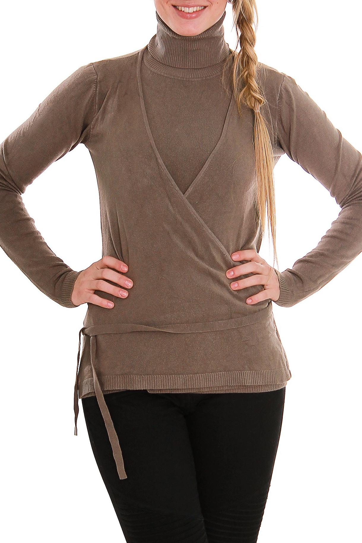 СвитерСвитеры<br>Мягкий, теплый и удобный свитер для милых дам.  Рост девушки-фотомодели 170 см.<br><br>Воротник: Стойка<br>По материалу: Вискоза,Трикотаж<br>По рисунку: Однотонные<br>По сезону: Зима,Осень<br>По силуэту: Полуприталенные<br>По элементам: С декором<br>Рукав: Длинный рукав<br>По стилю: Молодежный стиль,Повседневный стиль<br>Размер : 44-46<br>Материал: Трикотаж<br>Количество в наличии: 1