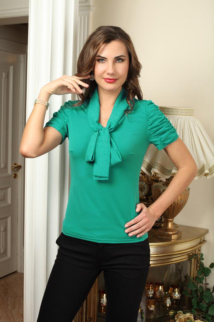 Фото - Блузка блузка женская oodji collection цвет светло зеленый белый 21412132 2b 24681 6010g размер 44 170 50 170