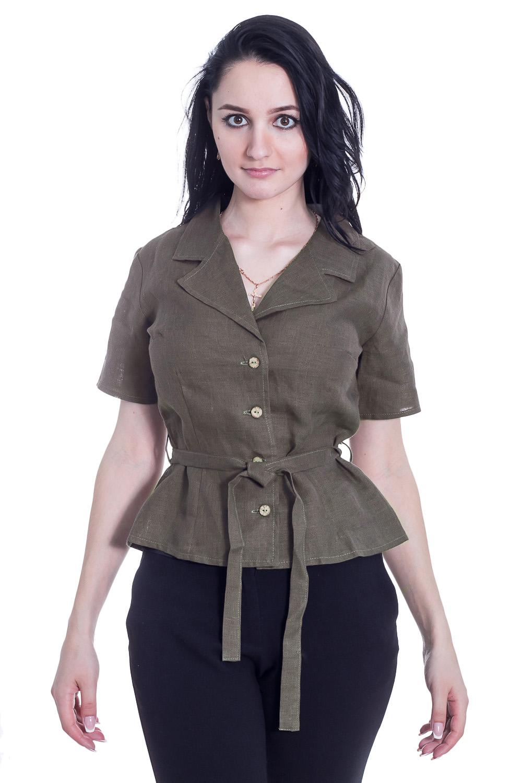 БлузкаБлузки<br>Классическая женская блузка из приятного к телу трикотажа станет основой Вашего повседневного гардероба.  Цвет: пепельный.  Рост девушки-фотомодели 170 см<br><br>По образу: Круиз,Офис,Свидание,Город<br>По стилю: Классический стиль,Сафари,Кэжуал,Летний стиль,Офисный стиль,Повседневный стиль<br>По материалу: Лен<br>По рисунку: Однотонные<br>По сезону: Зима,Лето,Всесезон,Осень,Весна<br>По силуэту: Полуприталенные<br>По элементам: С воротником,С вырезом,С декором,Со складками<br>Воротник: Стояче-отложной<br>Рукав: Короткий рукав<br>Горловина: V- горловина<br>Застежка: С пуговицами<br>Размер: 42,44,46,48,50,52,54,56,58<br>Материал: 100% лен<br>Количество в наличии: 8