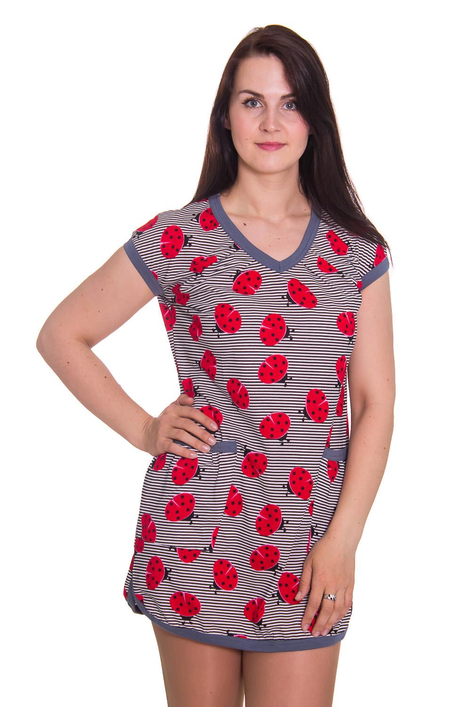ПлатьеПлатья<br>Женское домашнее платье с V-образной горловиной и спущенным рукавом. Домашняя одежда, прежде всего, должна быть удобной, практичной и красивой. В платье Вы будете чувствовать себя комфортно, особенно, по вечерам после трудового дня.  Цвет: серый, красный  Рост девушки-фотомодели 180 см.<br><br>Горловина: V- горловина<br>По рисунку: В полоску,Цветные,Животные мотивы,С принтом<br>По силуэту: Свободные<br>По форме: Платья<br>По элементам: С карманами<br>Рукав: Короткий рукав<br>По сезону: Осень,Весна,Зима,Лето,Всесезон<br>По длине: До колена<br>По материалу: Хлопок<br>Размер : 48<br>Материал: Хлопок<br>Количество в наличии: 1