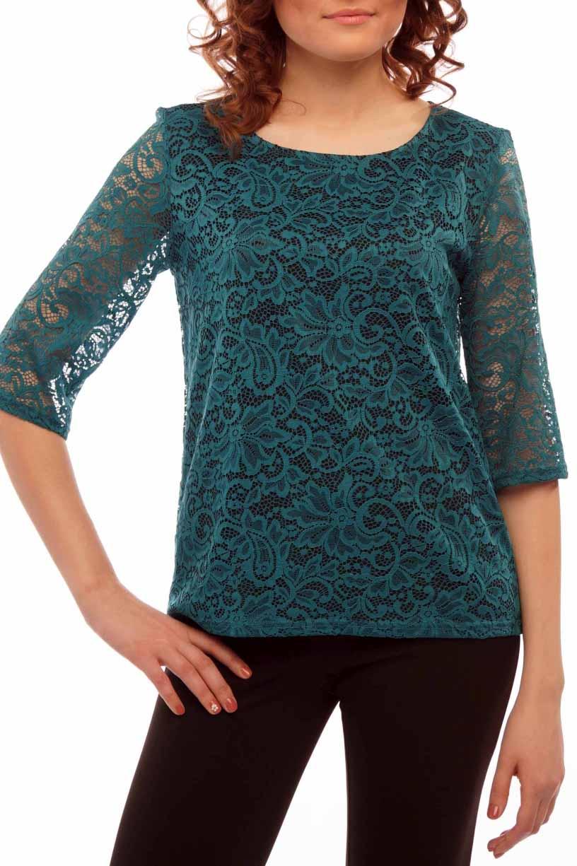БлузкаБлузки<br>Повседневно - нарядные блузки идеально подходят как для романтичных встреч, так и для походов в кафе с Вашими подругами. Подклад - трикотаж.  Цвет: изумрудный.<br><br>Горловина: С- горловина<br>По материалу: Гипюр,Трикотаж<br>По рисунку: Однотонные<br>По сезону: Весна,Зима,Лето,Осень,Всесезон<br>По силуэту: Полуприталенные<br>По стилю: Нарядный стиль<br>По элементам: С подкладом<br>Рукав: Рукав три четверти<br>Размер : 44-46<br>Материал: Трикотаж + Гипюр<br>Количество в наличии: 3