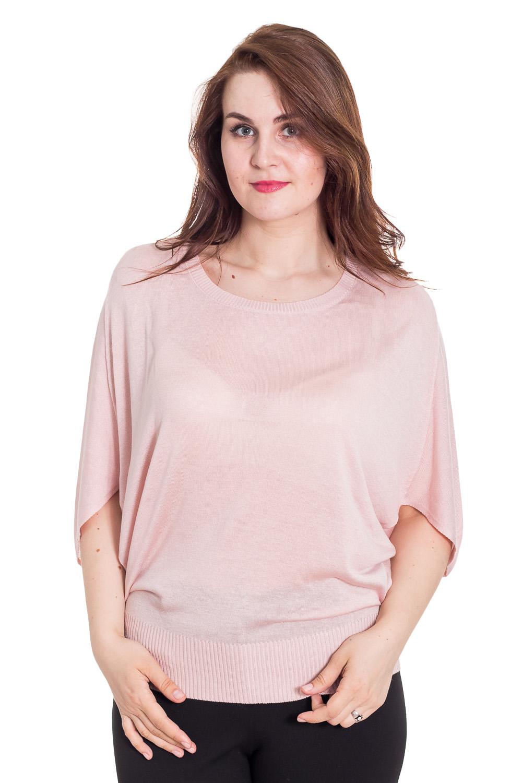 БлузкаБлузки<br>Великолепная блузка свободного силуэта. Модель выполнена из мягкой вискозы. Отличный выбор для повседневного гардероба.  Цвет: светло-розовый  Рост девушки-фотомодели 180 см<br><br>Горловина: С- горловина<br>По материалу: Вискоза,Трикотаж<br>По рисунку: Однотонные<br>По сезону: Весна,Зима,Лето,Осень,Всесезон<br>По силуэту: Свободные<br>По стилю: Повседневный стиль<br>Рукав: До локтя<br>Размер : 48-50<br>Материал: Трикотаж<br>Количество в наличии: 1