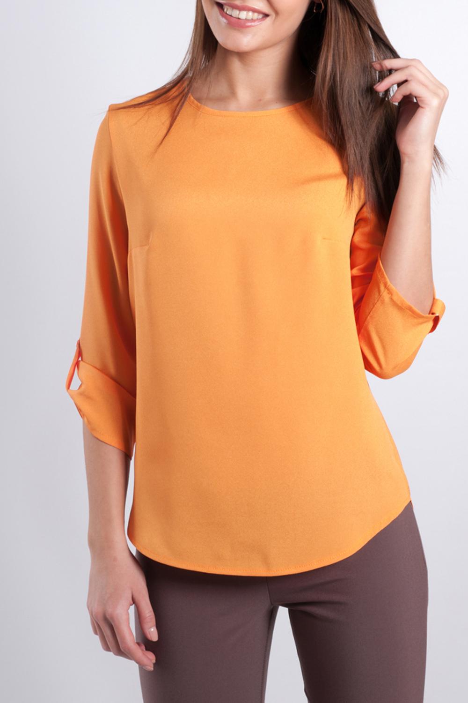БлузкаБлузки<br>Прекрасная блузка с рукавами 3/4. Модель выполнена из приятного материала. Отличный выбор для любого случая.  Параметры изделия:  44 размер: обхват груди - 90 см, обхват бедер - 100 см, длина по спинке - 63 см;   52 размер: обхват груди - 114 см, обхват бедер - 116 см, длина по спинке - 66 см  Цвет: оранжевый  Рост девушки-фотомодели 170 см<br><br>Горловина: С- горловина<br>По материалу: Тканевые<br>По образу: Город,Свидание<br>По рисунку: Однотонные<br>По сезону: Весна,Зима,Лето,Осень,Всесезон<br>По стилю: Нарядный стиль,Повседневный стиль<br>По элементам: С патами<br>Рукав: Рукав три четверти<br>По силуэту: Прямые<br>Размер : 60<br>Материал: Блузочная ткань<br>Количество в наличии: 1