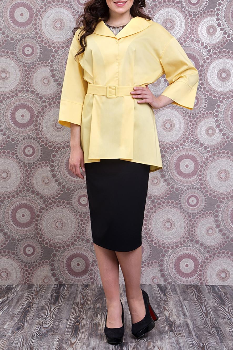 БлузкаБлузки<br>Удлиненная блузка свободного силуэта с небольшим шлейфом и рукавами 3/4. Модель выполнена из приятного материала. Отличный выбор для любого случая. Блузка без пояса.  Цвет: желтый  Ростовка изделия 170 см.<br><br>Воротник: Отложной<br>По материалу: Тканевые<br>По рисунку: Однотонные<br>По сезону: Весна,Зима,Лето,Осень,Всесезон<br>По силуэту: Полуприталенные<br>По стилю: Офисный стиль,Повседневный стиль<br>По элементам: С фигурным низом<br>Рукав: Рукав три четверти<br>Размер : 50<br>Материал: Блузочная ткань<br>Количество в наличии: 1