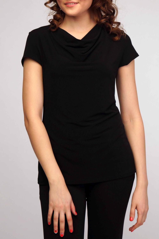 БлузкаБлузки<br>Классическая женская блузка из приятного к телу трикотажа станет основой Вашего повседневного гардероба.  Цвет: черный.<br><br>Горловина: Качель<br>По материалу: Трикотаж<br>По рисунку: Однотонные<br>По сезону: Весна,Зима,Лето,Осень,Всесезон<br>По силуэту: Полуприталенные<br>По стилю: Классический стиль,Кэжуал,Офисный стиль,Повседневный стиль<br>Рукав: Короткий рукав<br>Размер : 44-46,48-50,52-54,56-58<br>Материал: Холодное масло<br>Количество в наличии: 4