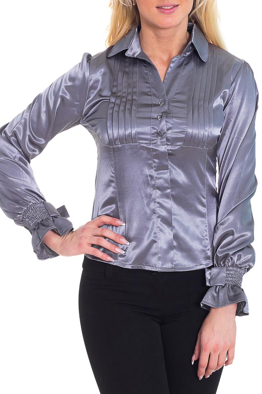 РубашкаРубашки<br>Великолепная рубашка с длинными рукавами. Модель выполнена из приятного материала. Отличный выбор для любого случая.  Цвет: серый  Рост девушки-фотомодели 170 см<br><br>Воротник: Рубашечный<br>Горловина: V- горловина<br>По материалу: Атлас<br>По образу: Свидание<br>По рисунку: Однотонные<br>По сезону: Весна,Всесезон,Зима,Лето,Осень<br>По силуэту: Полуприталенные<br>По стилю: Нарядный стиль,Повседневный стиль<br>Рукав: Длинный рукав<br>Размер : 42,44<br>Материал: Атлас<br>Количество в наличии: 2