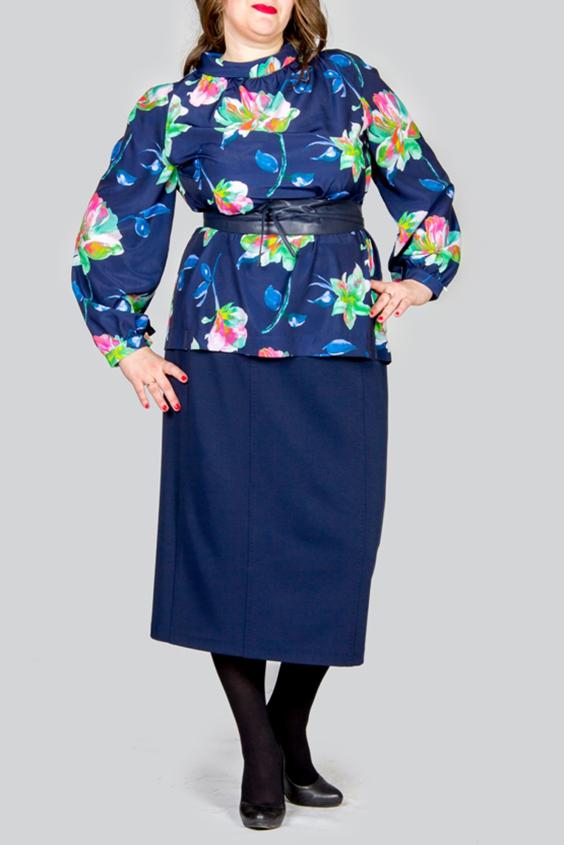 БлузкаБлузки<br>Великолепная блузка с длинными рукавами. Модель выполнена из шелкового материала с цветочным принтом. Отличный выбор для любого случая. Блузка без пояса.  Цвет: синий, мультицвет  Ростовка изделия 170 см.<br><br>По материалу: Шелк<br>По рисунку: Растительные мотивы,Цветные,Цветочные,С принтом<br>По сезону: Весна,Всесезон,Зима,Лето,Осень<br>По силуэту: Свободные<br>По стилю: Повседневный стиль<br>Рукав: Длинный рукав<br>По элементам: С манжетами<br>Воротник: Хомут<br>Размер : 46,48,50,52<br>Материал: Искусственный шелк<br>Количество в наличии: 4