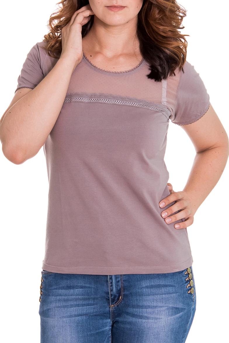 БлузкаБлузки<br>Женская блузка с круглой горловиной и короткими рукавами. Модель выполнена из приятного материала. Отличный выбор для повседневного и делового гардероба.  Цвет: бежевый  Рост девушки-фотомодели 180 см<br><br>Горловина: С- горловина<br>По материалу: Хлопок<br>По образу: Город,Свидание<br>По рисунку: Однотонные<br>По сезону: Весна,Зима,Лето,Осень,Всесезон<br>По стилю: Повседневный стиль<br>Рукав: Короткий рукав<br>По силуэту: Приталенные<br>По элементам: С декором<br>Размер : 42,44,46<br>Материал: Хлопок<br>Количество в наличии: 7