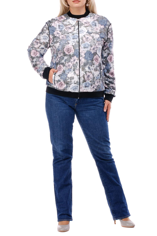 КофтаКофты<br>Красивая кофта с длинными рукавами. Модель выполнена из приятного трикотажа с цветочным принтом. Отличный выбор для повседневного гардероба.  Цвет: серый, лавандовый, розовый, черный  Рост девушки-фотомодели 173 см.<br><br>Горловина: С- горловина<br>Застежка: С молнией<br>По длине: Средней длины<br>По материалу: Трикотаж<br>По рисунку: Растительные мотивы,С принтом,Цветные,Цветочные<br>По силуэту: Полуприталенные<br>По стилю: Повседневный стиль<br>По элементам: С карманами,С манжетами<br>Рукав: Длинный рукав<br>По сезону: Осень,Весна<br>Размер : 52,56,58<br>Материал: Трикотаж<br>Количество в наличии: 3