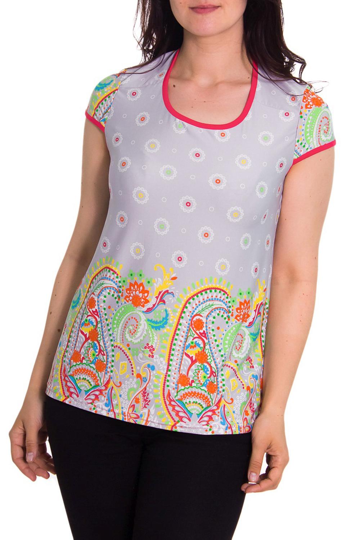 ФутболкаФутболки<br>Домашняя футболка с круглой горловиной и коротким рукавом. Домашняя одежда, прежде всего, должна быть удобной, практичной и красивой. В футболке Вы будете чувствовать себя комфортно, особенно, по вечерам после трудового дня.  Цвет: серый, желтый, оранжевый, зеленый  Рост девушки-фотомодели 180 см<br><br>Горловина: С- горловина<br>По рисунку: Цветные,С принтом<br>Рукав: Короткий рукав<br>По сезону: Осень,Весна<br>По силуэту: Полуприталенные<br>По материалу: Трикотаж<br>Размер : 48<br>Материал: Холодное масло<br>Количество в наличии: 1