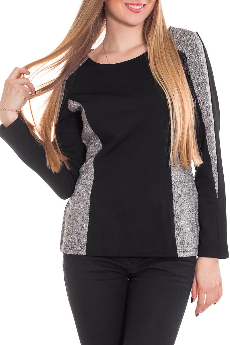 ДжемперДжемперы<br>Универсальный женский джемпер с округлой горловиной и длинными рукавами. Модель станет идеальным дополнением к Вашему повседневному гардеробу.  Цвет: серый, черный.  Рост девушки-фотомодели 170 см<br><br>Горловина: С- горловина<br>По материалу: Трикотаж<br>По рисунку: Цветные<br>По сезону: Зима,Осень,Весна<br>По силуэту: Полуприталенные<br>По стилю: Повседневный стиль<br>Рукав: Длинный рукав<br>Размер : 44-46,48-50<br>Материал: Трикотаж<br>Количество в наличии: 4