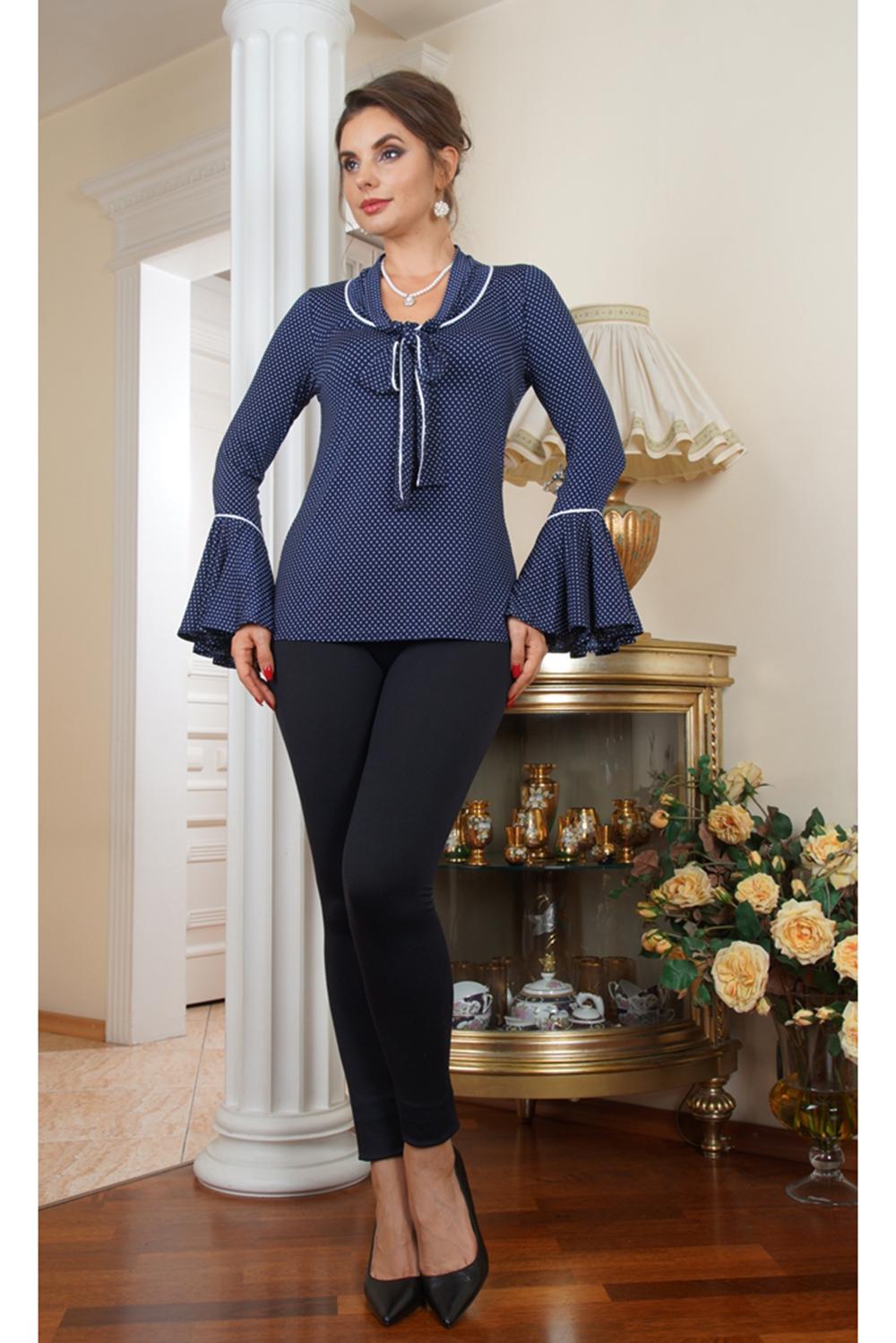 Блузка блузка женская sela цвет синий twsl 112 311 8234p размер 48