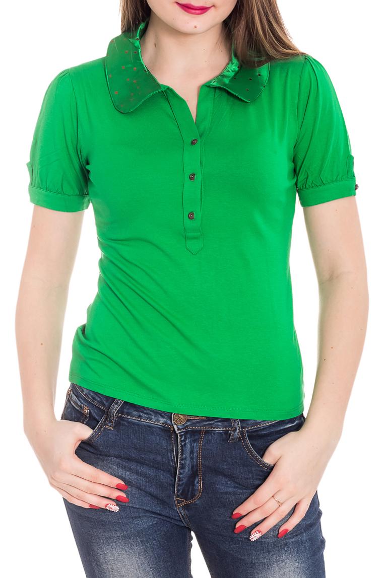 БлузкаБлузки<br>Красивая блузка с короткими рукавами. Модель выполнена из приятного материала. Отличный выбор для повседневного гардероба.Цвет: зеленыйРост девушки-фотомодели 180 см<br><br>Воротник: Отложной<br>Застежка: С пуговицами<br>Рукав: Короткий рукав<br>Материал: Вискоза<br>Рисунок: Однотонные<br>Сезон: Весна,Всесезон,Зима,Лето,Осень<br>Силуэт: Полуприталенные<br>Стиль: Повседневный стиль,Летний стиль<br>Размер : 44<br>Материал: Вискоза<br>Количество в наличии: 1