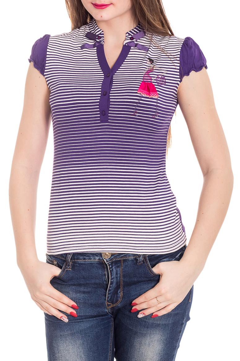 БлузкаБлузки<br>Красивая блузка с короткими рукавами. Модель выполнена из приятного материала. Отличный выбор для повседневного гардероба.  Цвет: фиолетовый, сиреневый  Рост девушки-фотомодели 180 см<br><br>Горловина: V- горловина<br>По материалу: Вискоза<br>По образу: Город<br>По рисунку: С принтом,Цветные<br>По сезону: Весна,Зима,Лето,Осень,Всесезон<br>По силуэту: Полуприталенные<br>По стилю: Повседневный стиль<br>Рукав: Короткий рукав<br>Размер : 44<br>Материал: Вискоза<br>Количество в наличии: 1