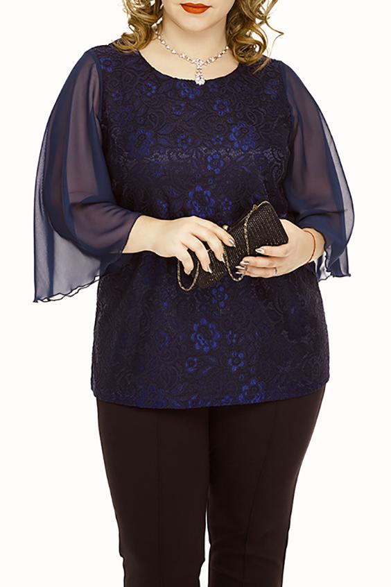 БлузкаБлузки<br>Нарядная блузка с шифоновыми рукавами. Модель выполнена из приятного материала. Отличный выбор для любого торжества.  В изделии использованы цвета: синий  Ростовка изделия 164-170 см.  Параметры размеров: 40 размер - обхват груди 80 см., обхват талии 62 см., обхват бедер 86 см. 42 размер - обхват груди 84 см., обхват талии 66 см., обхват бедер 90 см. 44 размер - обхват груди 88 см., обхват талии 70 см., обхват бедер 94 см. 46 размер - обхват груди 92 см., обхват талии 74 см., обхват бедер 98 см. 48 размер - обхват груди 96 см., обхват талии 78 см., обхват бедер 102 см. 50 размер - обхват груди 100 см., обхват талии 82 см., обхват бедер 106 см. 52 размер - обхват груди 104 см., обхват талии 86 см., обхват бедер 110 см. 54 размер - обхват груди 110 см., обхват талии 92 см., обхват бедер 116 см. 56 размер - обхват груди 116 см., обхват талии 98 см., обхват бедер 122 см. 58 размер - обхват груди 122 см., обхват талии 104 см., обхват бедер 128 см. 60 размер - обхват груди 128 см., обхват талии 110 см., обхват бедер 134 см.<br><br>Горловина: С- горловина<br>По материалу: Гипюр,Шифон<br>По рисунку: Однотонные,Фактурный рисунок<br>По сезону: Весна,Зима,Лето,Осень,Всесезон<br>По силуэту: Приталенные<br>По стилю: Нарядный стиль,Вечерний стиль<br>По элементам: С декором<br>Рукав: Рукав три четверти<br>Размер : 50,52,60<br>Материал: Гипюр + Шифон<br>Количество в наличии: 5