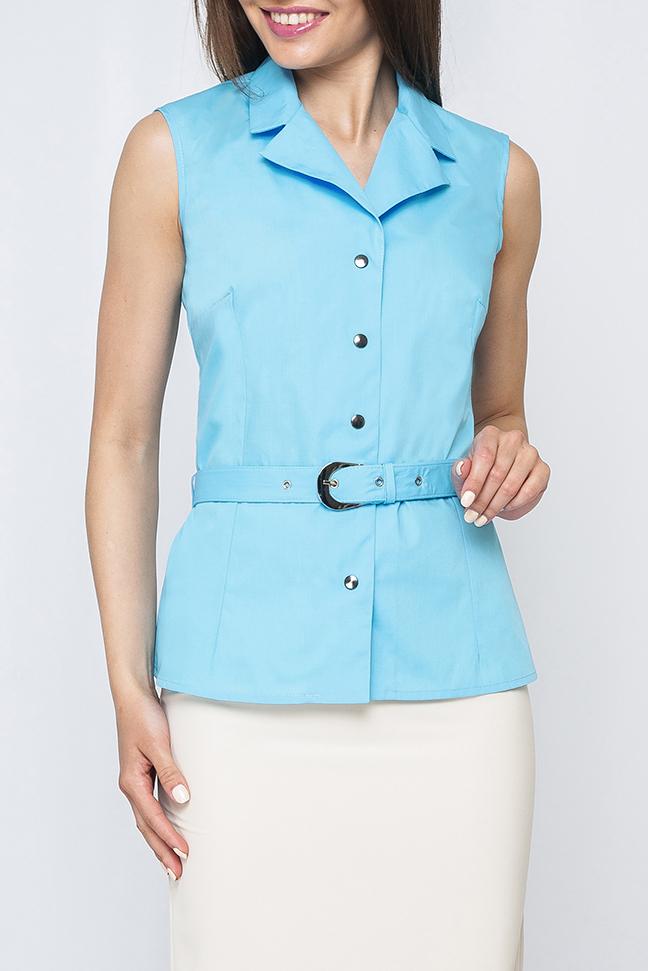 БлузкаБлузки<br>Стильная блузка без рукавов. Модель выполнена из приятного материала. Отличный выбор для любого случая. Блузка без пояса.  Параметры изделия:  42 размер: длина изделия по спинке - 61см, обхват по линии груди - 92см;  46 размер: длина изделия по спинке - 62см, обхват по линии груди - 96см  Цвет: голубой  Рост девушки-фотомодели 170 см<br><br>Воротник: Отложной<br>Горловина: V- горловина<br>Застежка: С кнопками<br>По материалу: Тканевые,Хлопок<br>По рисунку: Однотонные<br>По сезону: Весна,Зима,Лето,Осень,Всесезон<br>По силуэту: Свободные<br>По стилю: Офисный стиль,Повседневный стиль,Летний стиль<br>Рукав: Без рукавов<br>Размер : 44,46<br>Материал: Блузочная ткань<br>Количество в наличии: 2