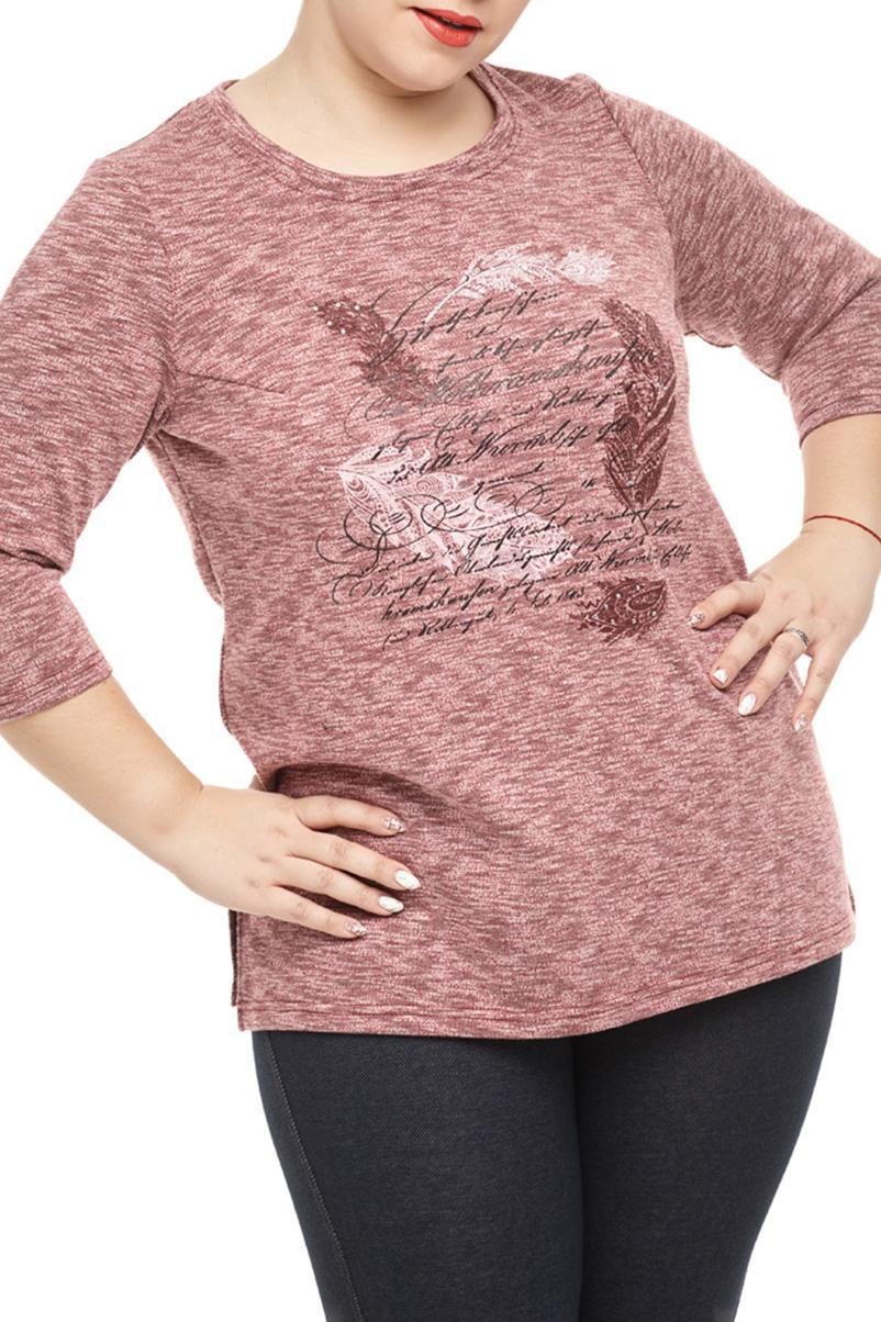 БлузкаБлузки<br>Восхитительная блуза прямого силуэта с разрезами в боковых швах. Вырез горловины круглый. Полочка украшена принтом со стразами. Рукав втачной 3/4.  В изделии использованы цвета: темно-розовый и др.  Длина изделия: 69 см  Параметры размеров: 40 размер - обхват груди 80 см., обхват талии 62 см., обхват бедер 86 см. 42 размер - обхват груди 84 см., обхват талии 66 см., обхват бедер 90 см. 44 размер - обхват груди 88 см., обхват талии 70 см., обхват бедер 94 см. 46 размер - обхват груди 92 см., обхват талии 74 см., обхват бедер 98 см. 48 размер - обхват груди 96 см., обхват талии 78 см., обхват бедер 102 см. 50 размер - обхват груди 100 см., обхват талии 82 см., обхват бедер 106 см. 52 размер - обхват груди 104 см., обхват талии 86 см., обхват бедер 110 см. 54 размер - обхват груди 110 см., обхват талии 92 см., обхват бедер 116 см. 56 размер - обхват груди 116 см., обхват талии 98 см., обхват бедер 122 см. 58 размер - обхват груди 122 см., обхват талии 104 см., обхват бедер 128 см. 60 размер - обхват груди 128 см., обхват талии 110 см., обхват бедер 134 см.  Ростовка изделия 170 см.<br><br>Горловина: С- горловина<br>По материалу: Трикотаж,Хлопок<br>По рисунку: С принтом,Цветные<br>По сезону: Весна,Зима,Лето,Осень,Всесезон<br>По силуэту: Прямые<br>По стилю: Повседневный стиль<br>Рукав: Рукав три четверти<br>Размер : 50,52,54,56,58<br>Материал: Трикотаж<br>Количество в наличии: 10