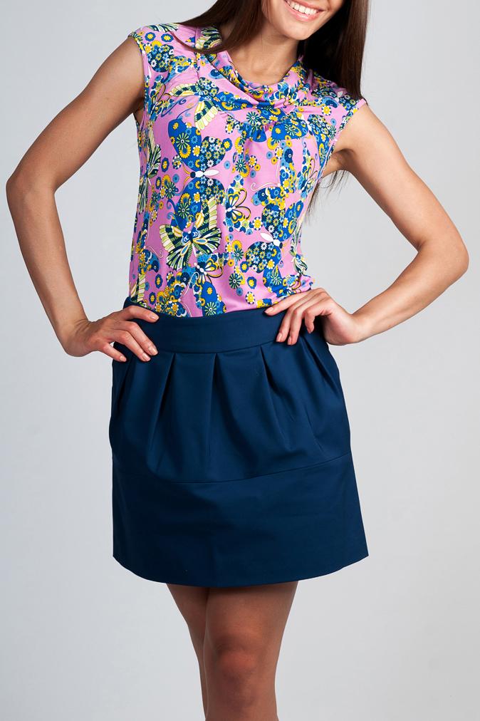 БлузкаБлузки<br>Цветная блузка без рукавов. Модель  выполнена из приятного трикотажа. Отличный выбор для повседневного гардероба.  Параметры изделия: 46 размер: обхват груди 90 см, длина изделия 56 см;  50 размер: обхват груди 102 см, длина изделия 60 см.  Цвет: розовый, голубой, желтый  Рост девушки-фотомодели 170 см<br><br>По материалу: Трикотаж<br>По рисунку: Бабочки,Растительные мотивы,С принтом,Цветные,Цветочные<br>По сезону: Весна,Зима,Лето,Осень,Всесезон<br>По силуэту: Полуприталенные<br>По стилю: Повседневный стиль<br>Рукав: Без рукавов<br>Горловина: Качель<br>Размер : 46,48,50<br>Материал: Холодное масло<br>Количество в наличии: 3